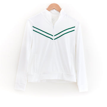 Perfect Match Sweatshirt, White & Green