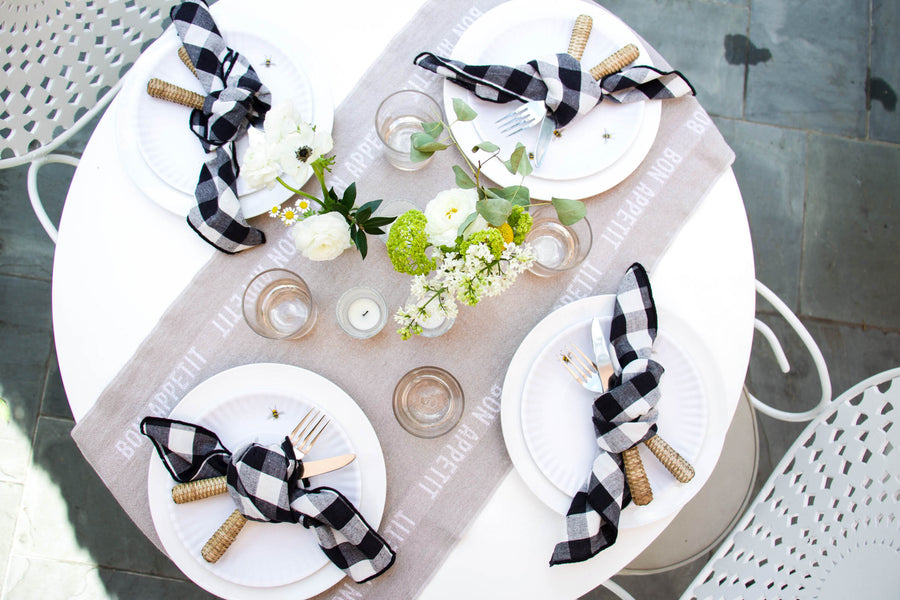 Bon Appetit Bistro Table Runner, Natural