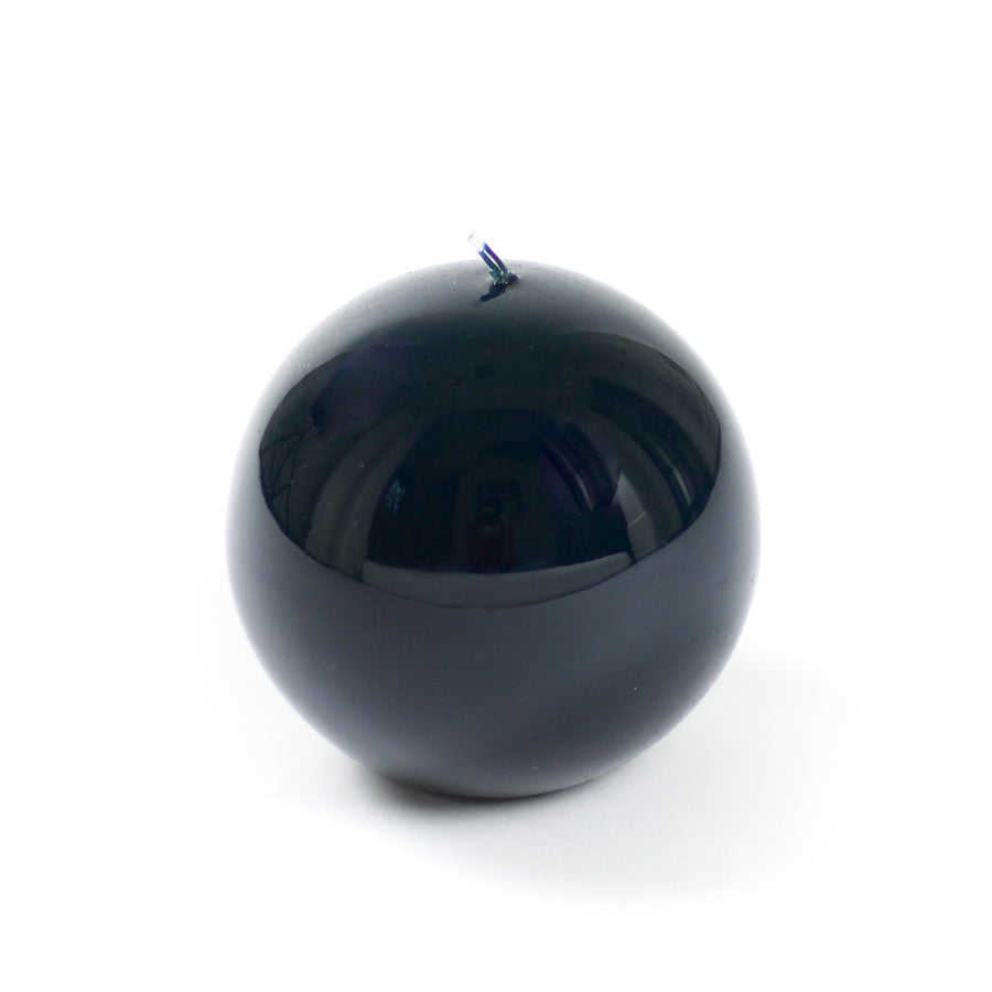 Lacquer Sphere Candle, English Green