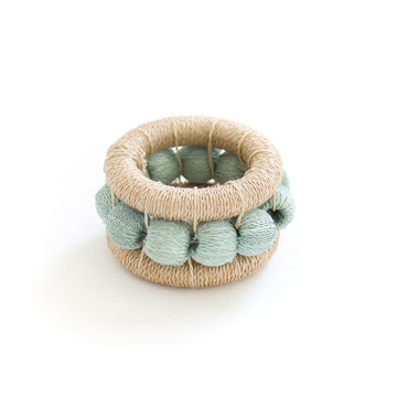 Sisal Berry Napkin Ring, Flax x Mint