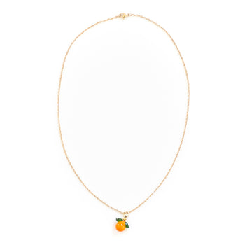 Tangerine Simple Chain Necklace