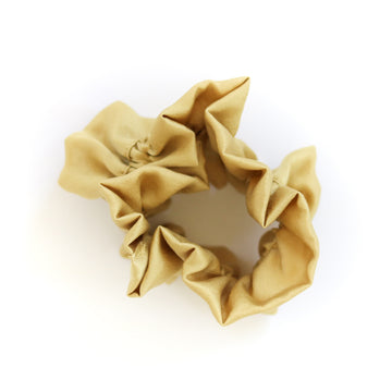 Naturally Dyed Ruffle Scrunchie Mustard