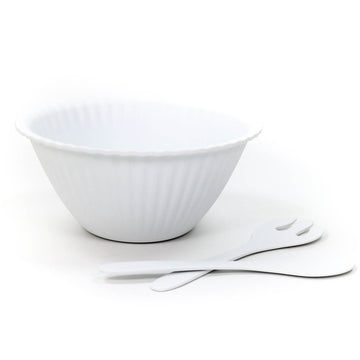 Melamine Salad Bowl & Tongs