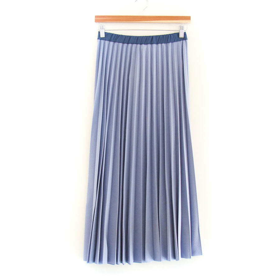 Pinta Pleated Skirt, Light Blue