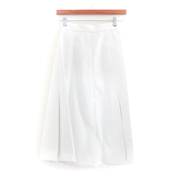 Yukatan Pleated Skirt, White