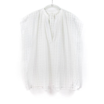 Khadi Grid Shirt, White
