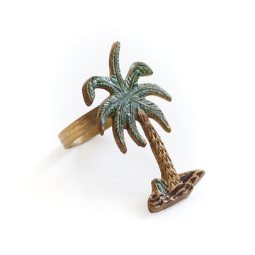 Vintage Palm Tree Napkin Ring