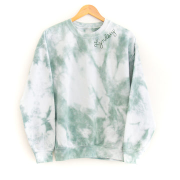 Tie-Dye Adult Sweatshirt, Green