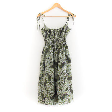 Evalina Dress, Tie Dye Sage Paisley