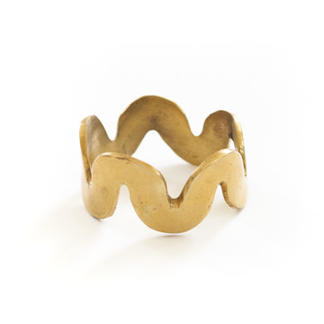 Brass Squiggle Napkin Ring
