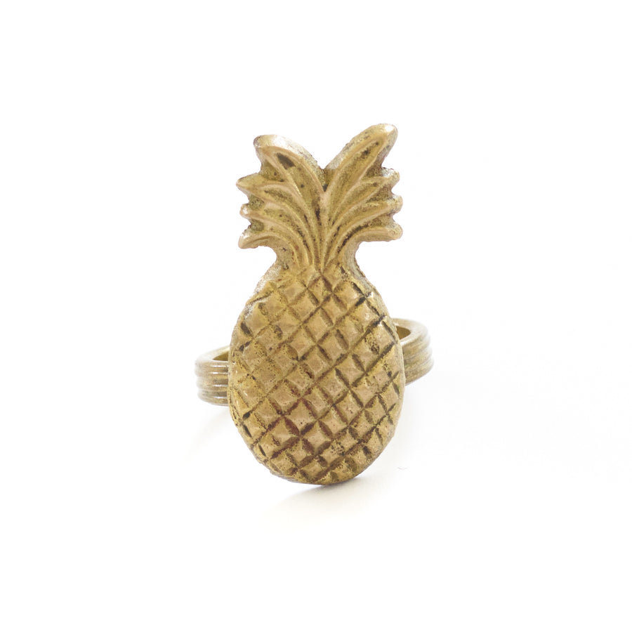 Brass Pineapple Napkin Ring No. 2