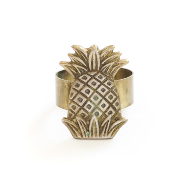 Brass Pineapple Napkin Ring No. 3
