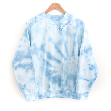 Tie-Dye Adult Sweatshirt, Blue