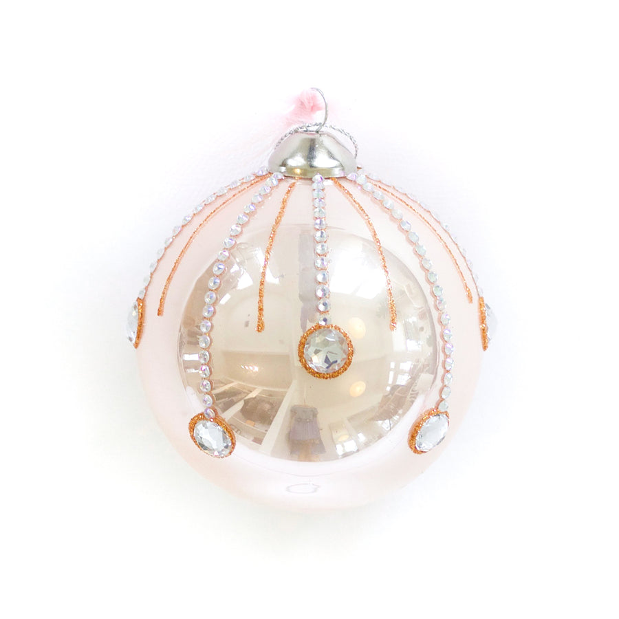 Sugarplum Ornament, Blush x Gold