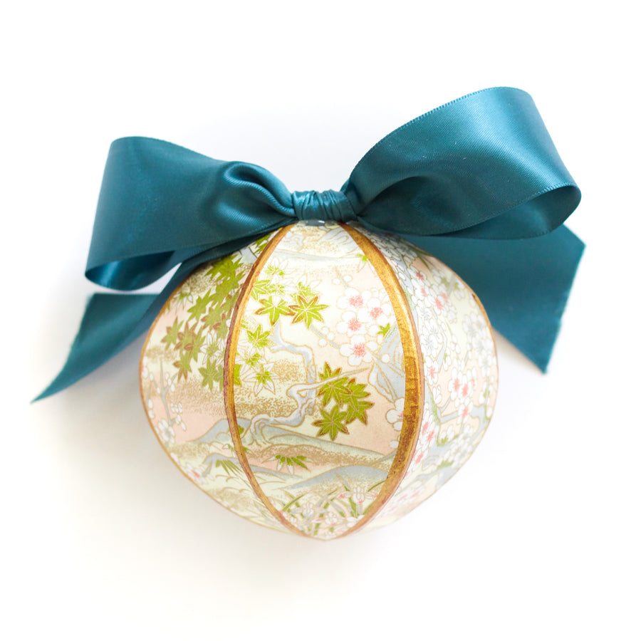 Gilded Orb Ornament, Chiyogami