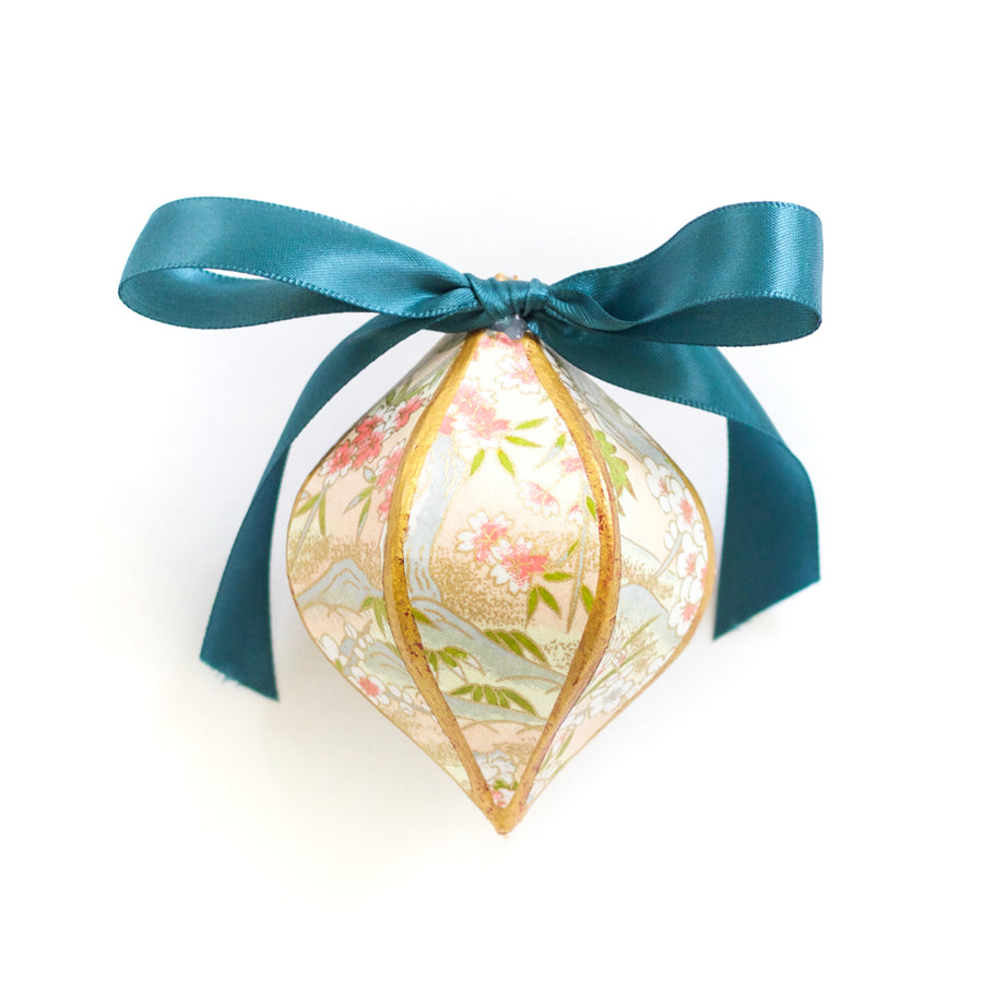Gilded Mini Bauble Ornament, Chiyogami