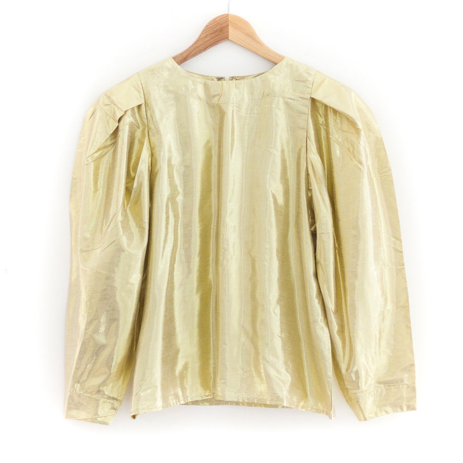 Lila Top, Gold Lamé