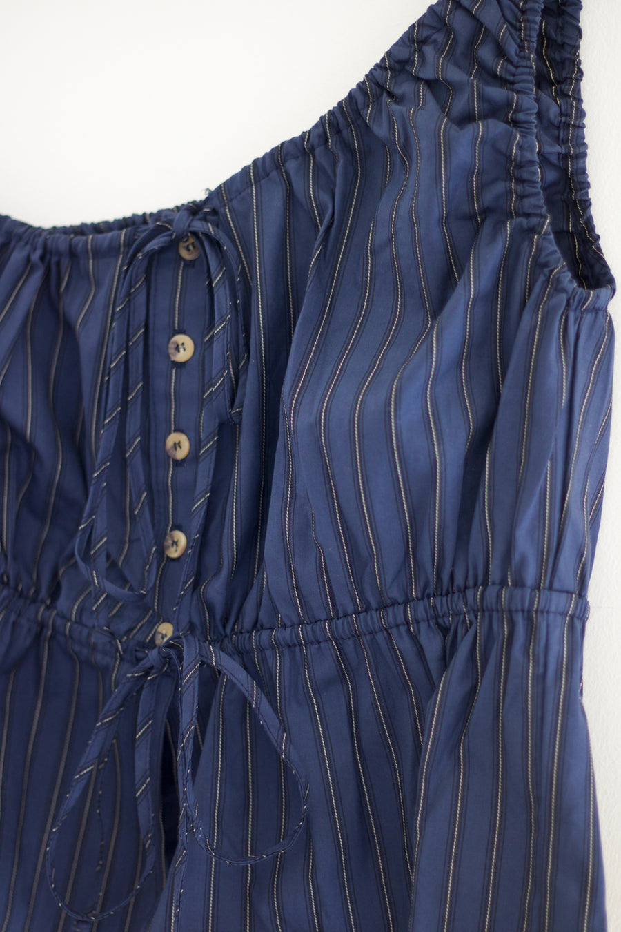 Fia Top, Pinstripe Navy