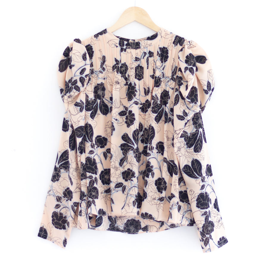 Barbara Blouse, Black x Ivory