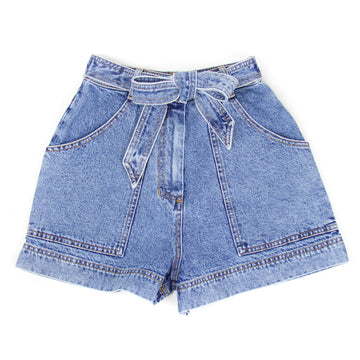 Woven Denim Short, Blue