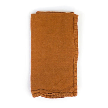Simple Linen Napkin, Terracotta