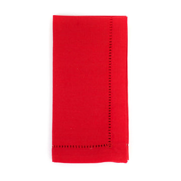 Hemstitch Napkin, Red