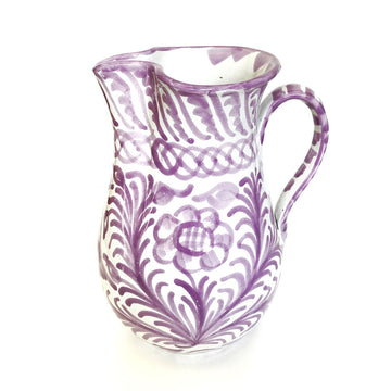 Handmade Spanish Pitcher, Lilac
