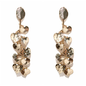 Golden Vine & Pearl Earrings