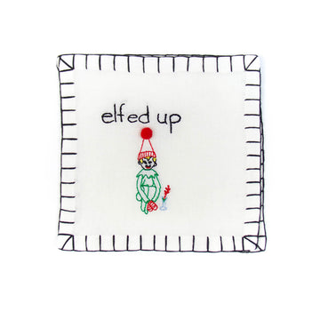 'Elfed Up' Cocktail Napkins, Set of Six