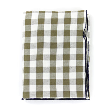 Gingham Tablecloth, Khaki