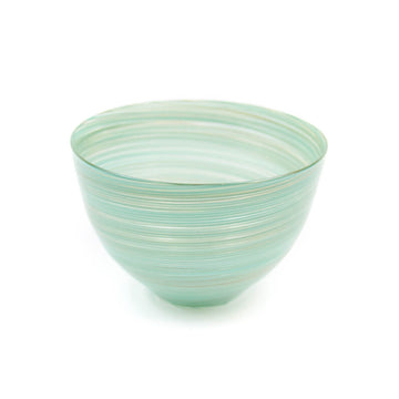 Twist Bowl, Gold x Turquoise