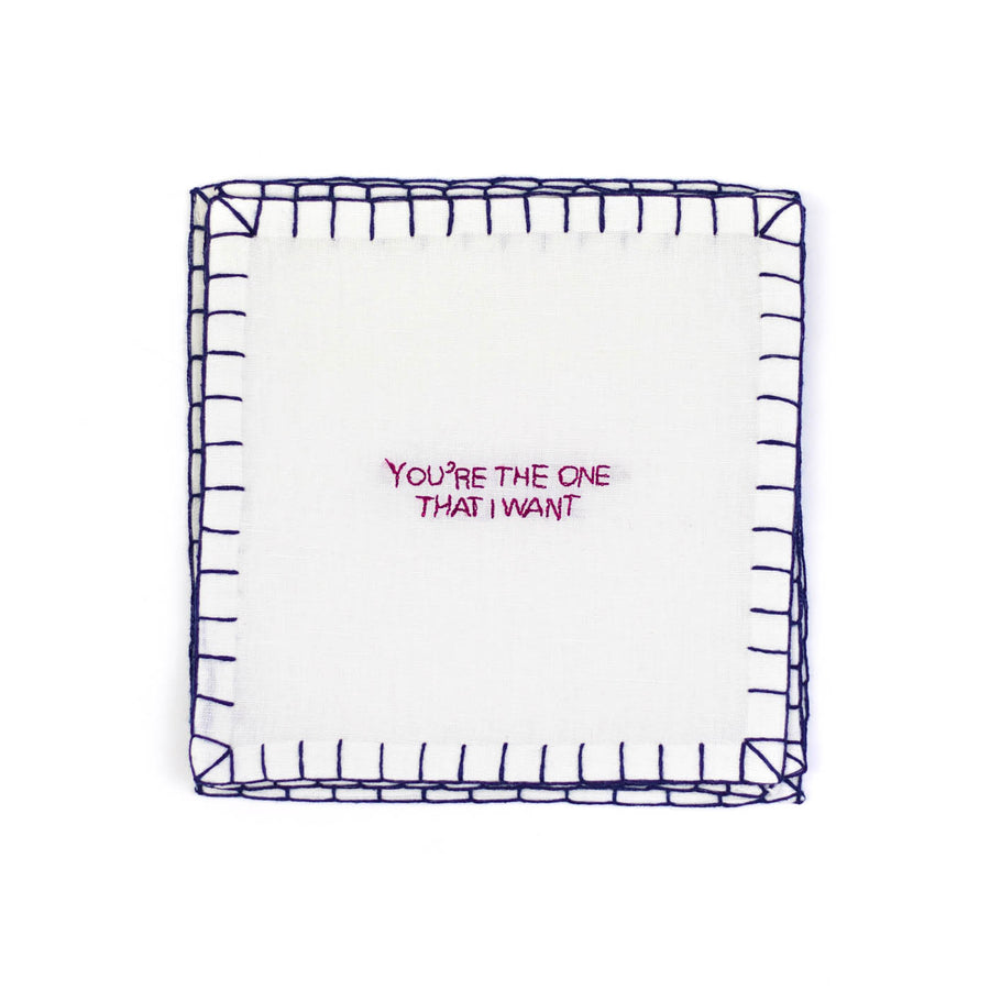 Love Songs Cocktail Napkins, Set of Six