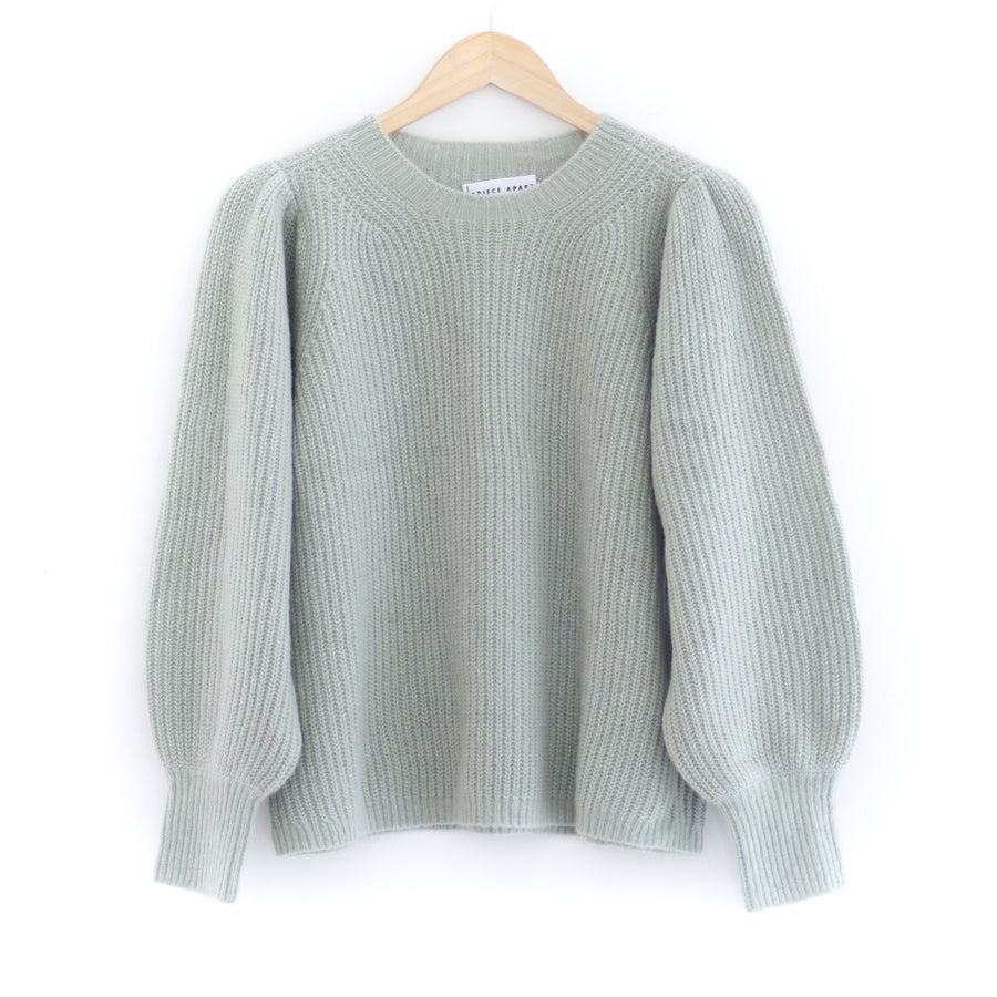 Arne Puff Sleeve Sweater, Mint