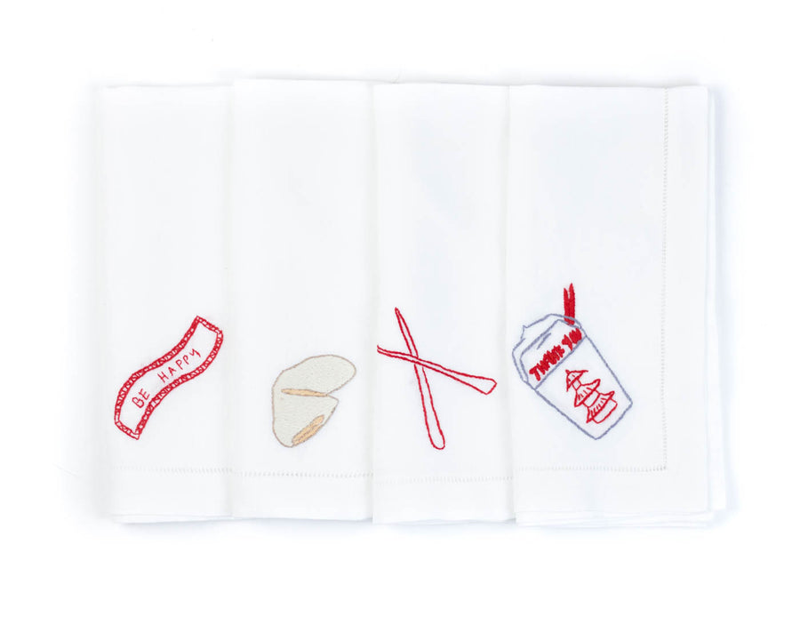Chinese Take-Out Napkins (Set of 4)