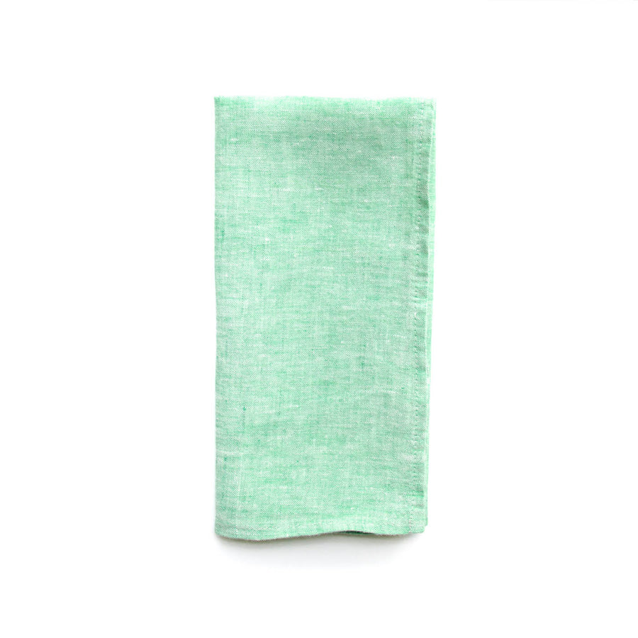 Chambray Linen Napkin, Mint Green