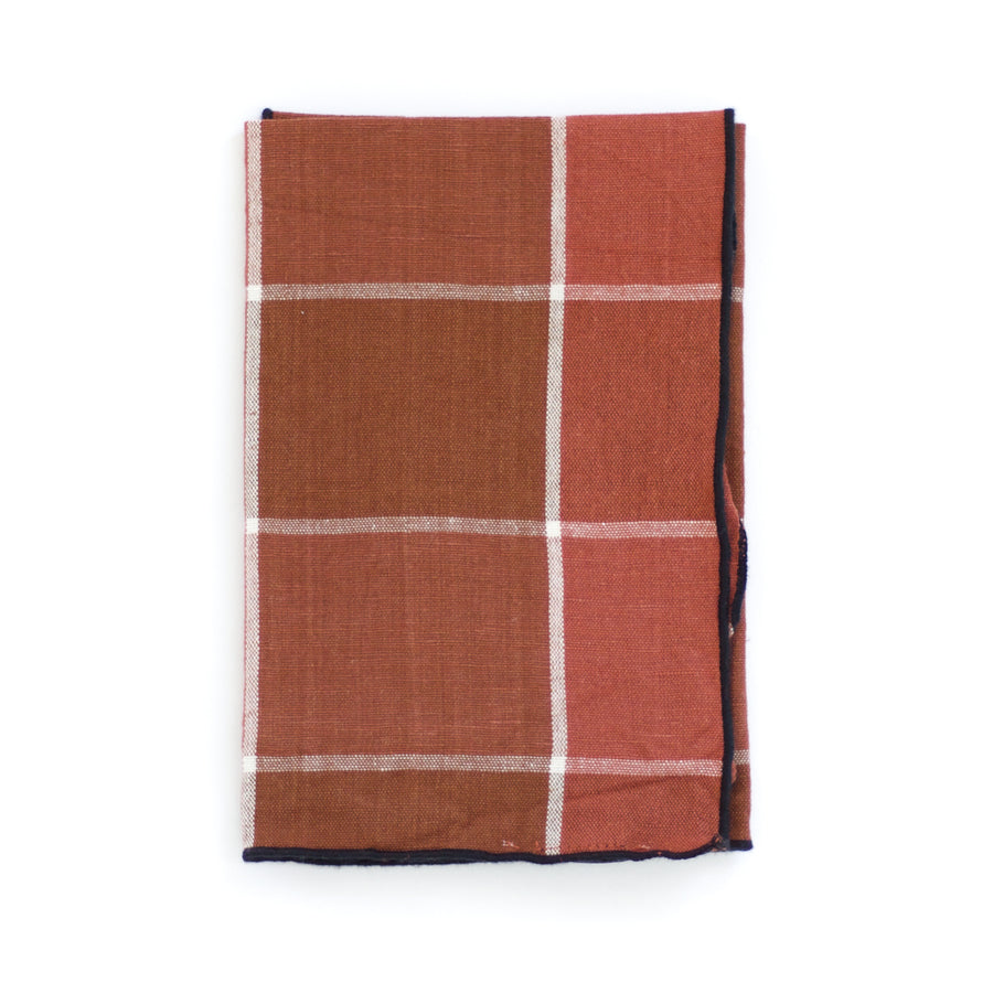 Plaid Napkin, Terracotta x Rust Argile
