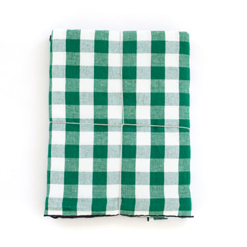 Gingham Tablecloth, English Green x White