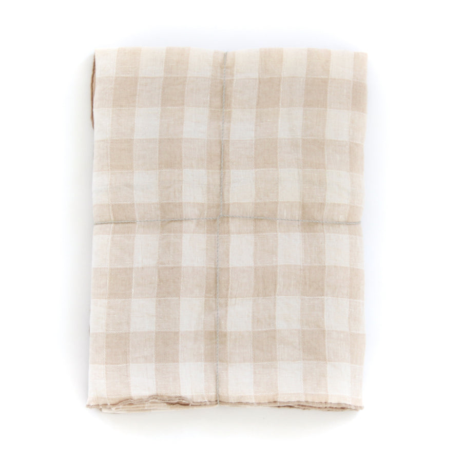 Gingham Tablecloth, Crème