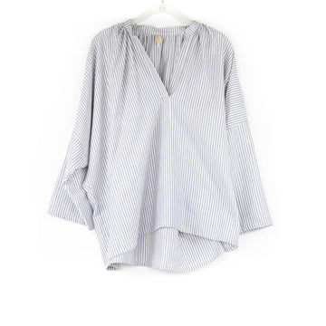 Grey & White Stripe Blouse