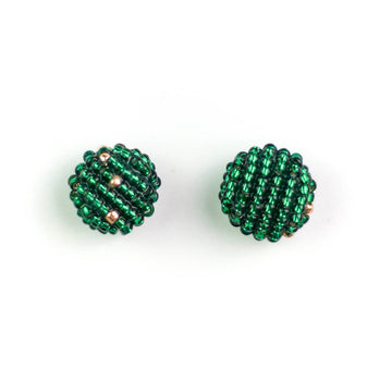 More Earrings, Emerald x Gold