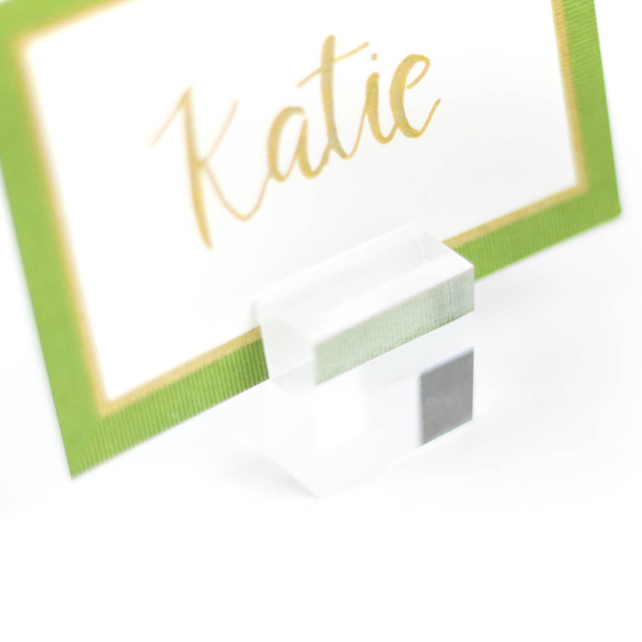 Lucite Place Card Holder