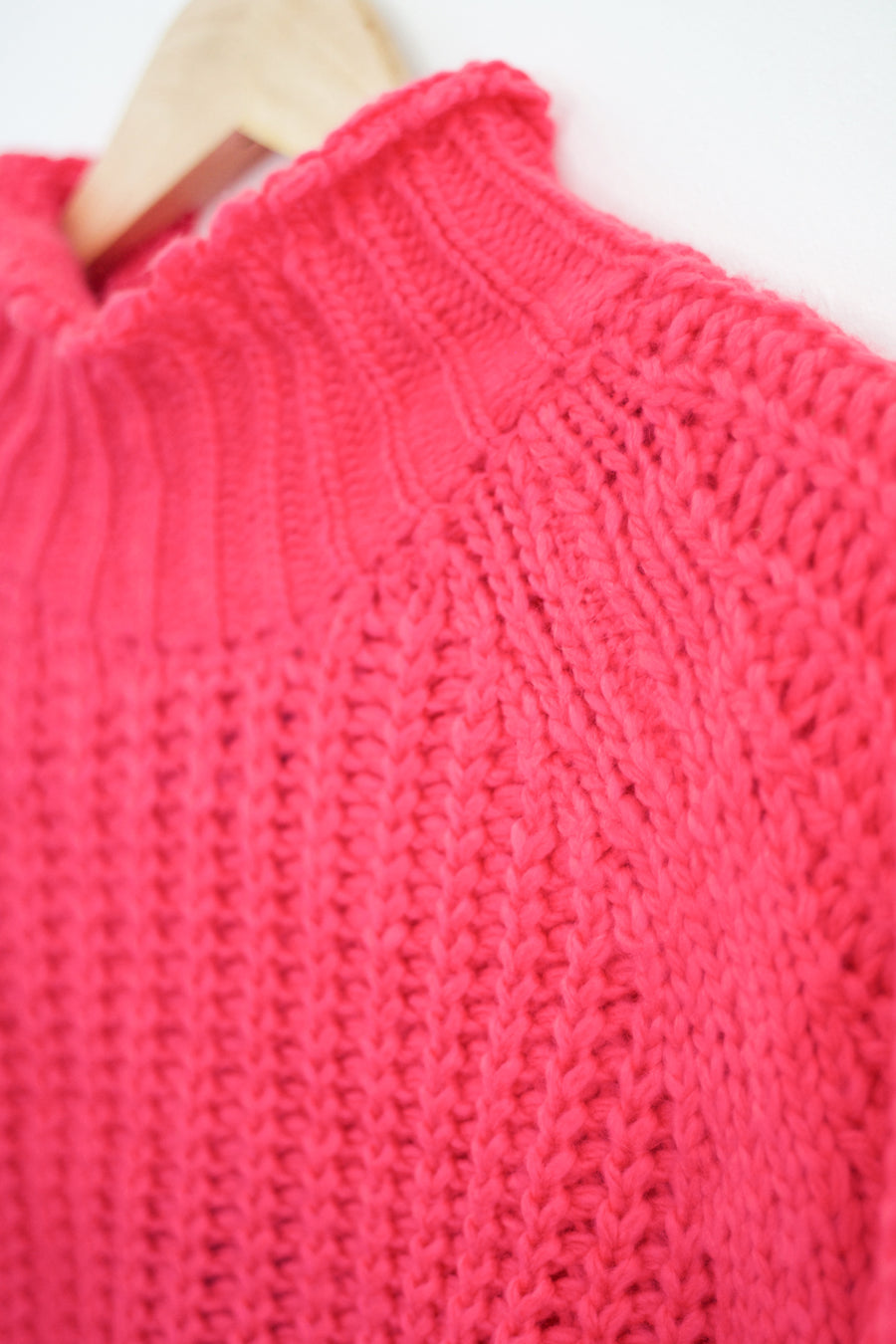 Ribbed Knit Sweater, Pink