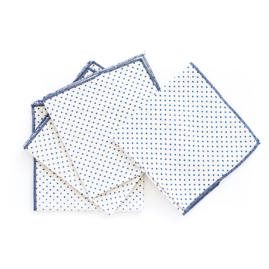 Dot Cocktail Napkin, Blue