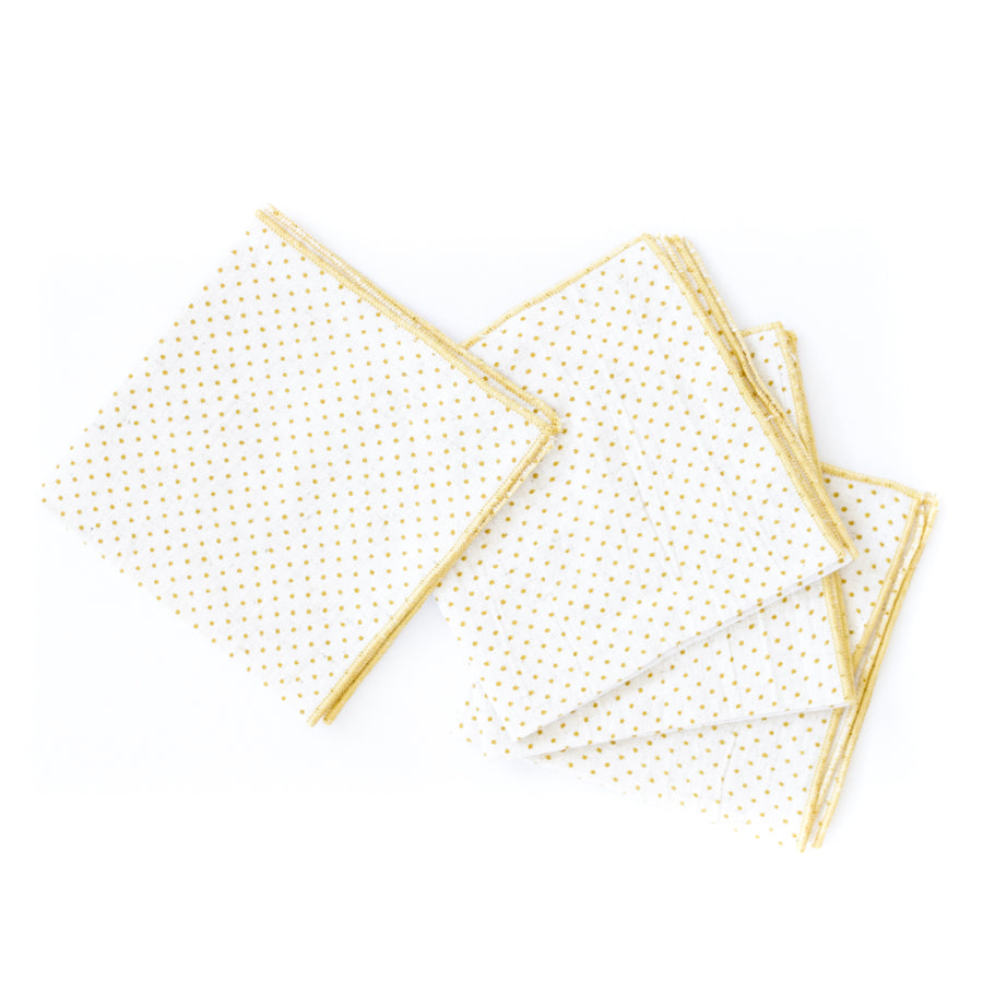 Dot Cocktail Napkin, Ochre