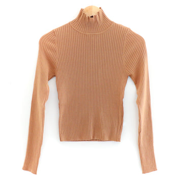 Ribbed Sweater, Rust