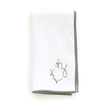 Embroidered Floral Monogram Napkin & Guest Towel