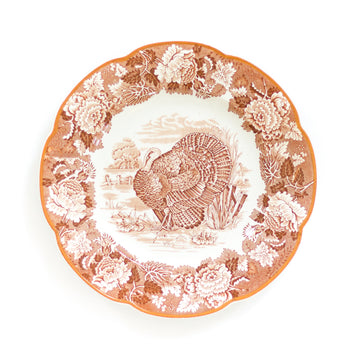 Vintage English Turkey Plate