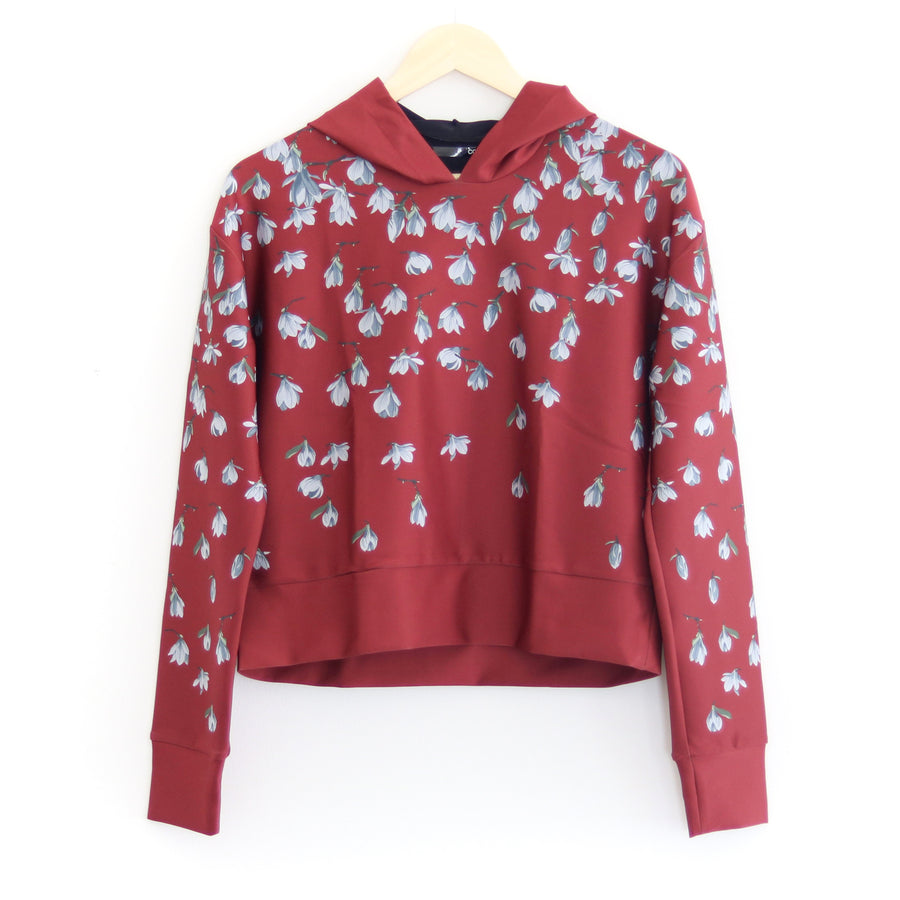 Snowdrops Pull Over Hoodie, Red