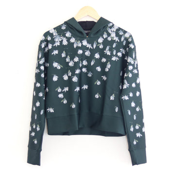Snowdrops Pull Over Hoodie, Forest