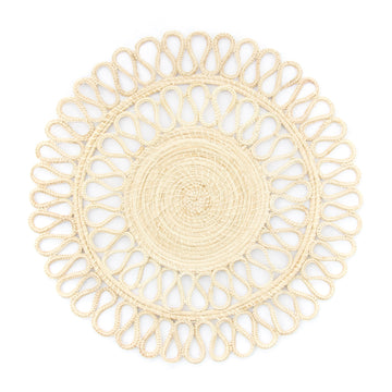 Woven Double Loop Palm Placemat, Natural